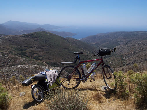 Amorgos bicycle touring