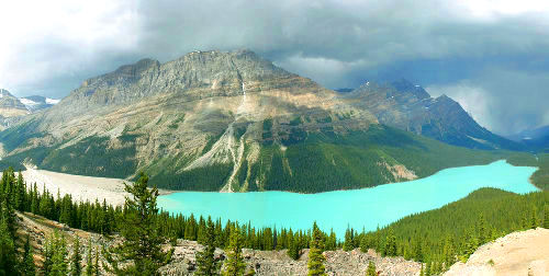Storm Over Lake Peyto, Banff National Park Canada