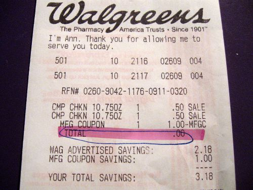 Receipt for Free Campbell's Soup