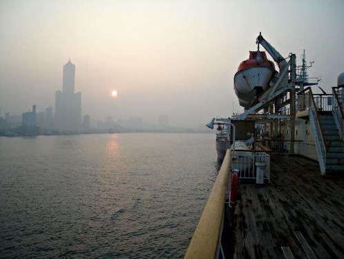 Photo of Kaohsiung, Taiwan on the Ferry from Okinawa