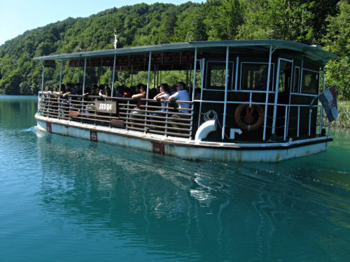 Tourist Boat at Plitvice Lakes