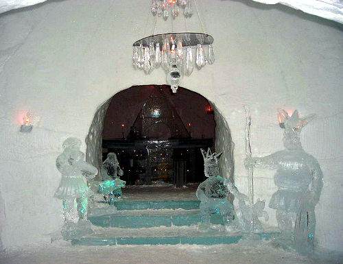 Ice Bar at the Alta Igloo Hotel, Alta Norway