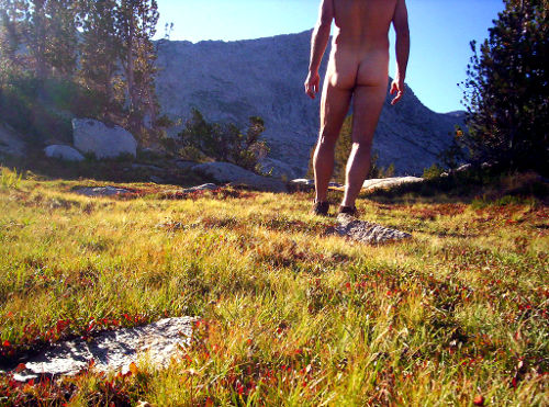 Photo of a Nude Hiker