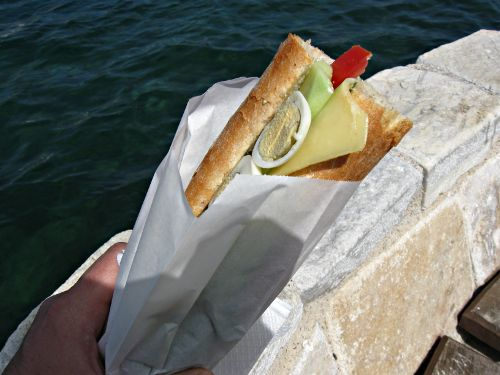 Sandwich in Greece